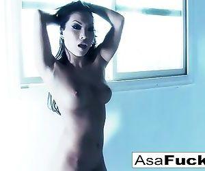 Amazing Asa Akira plays with..