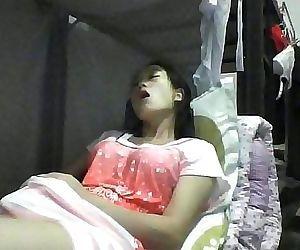 Asian girl bedroom hidden..